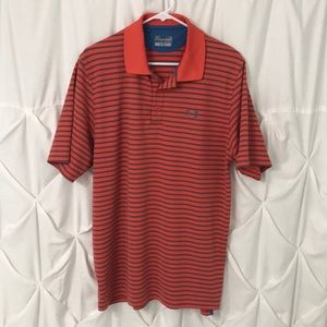 Under Armour Striped Golf Polo Shirt Mens large